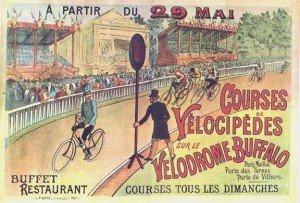 Vélodrome Buffalo près de la porte Maillot à Paris en 1893