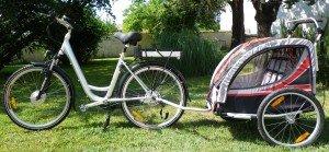 vélo avec carriole enfant 01