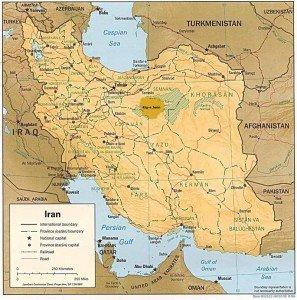 carte du Dasht el Kevir en iran