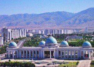 Achgabat centre ville sud Palais Ruyyet Turkménistan 05