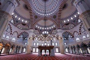 Achgabat La Mosquée  Bleue ouTurque ou Ottomane ou Erguzul Gazi intérieur 01 Turkménistan