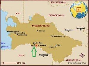 carte de  Nissa près D'achgabbat