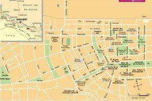 carte du centre d'Achgabat 02
