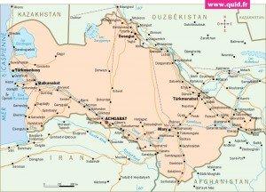 carte du Turkménistan 01