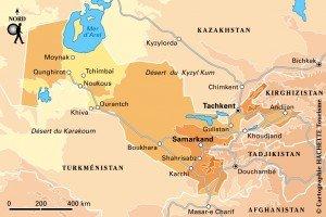 carte Ouzbékistan 01