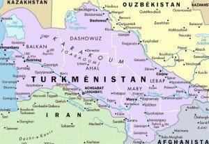 carte Turménistan