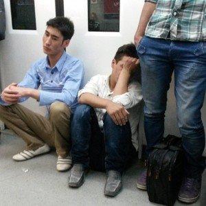 Dans le métro de  Téhéran un avant goût des visages turkmènes