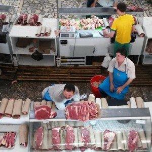 Tashkent - marché de la viande à Tashkent