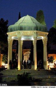 Tombeau d'Hafez la nuit