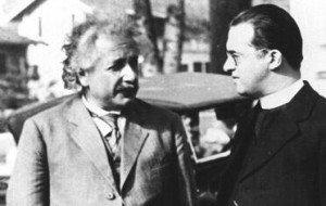 Albert Einstein et Georges Lamaître