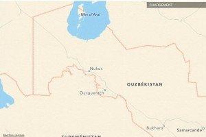 carte de Noukous et d'Ourguentch