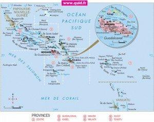 carte des îles Salomon 01