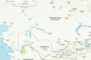 carte du Kazackstan et ouzbékistan 01