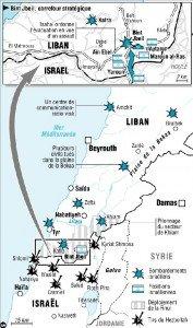 carte du Liban 15 juillet 2006