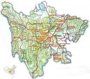 carte du Sichuan