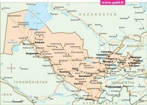 carte Ouzbékistan 02