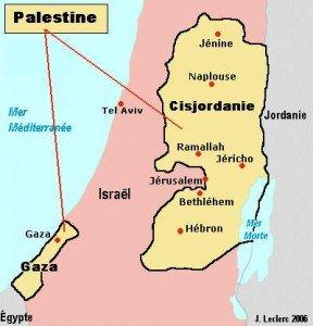 carte palestine en février 2014