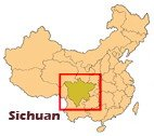 carte situation du Sichuan