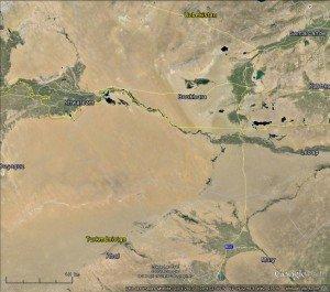 frontières entre Turkménistan et Ouzbékistan