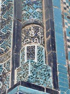 Mausolée de Shah-I-Zinda détail colonne