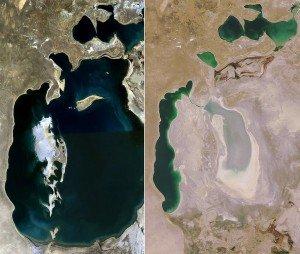 Mer d'Aral 03 à gauche en 1998 à droite en 2008
