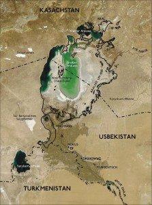 Mer d'Aral 07 île de Vozrozhdeniya partagée entre Ouzbékistan et Kazakhstan