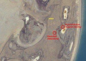 Mer d'Aral 09 île de Vozrozhdeniya en Ouzbékistan et Kazakhstan aéroport de Kantubek