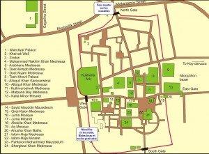 plan de Itchan Kala  Khiva 02