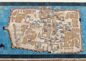 plan de Khiva en majolique