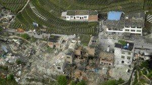 Ya'an séisme du 20 avril 2013 02 vue aérienne