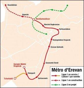 Yerevan Arménie métro