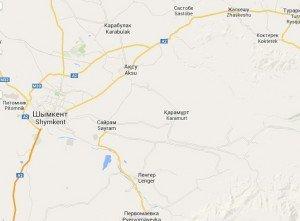 A2 à Shymkent vers Taraz