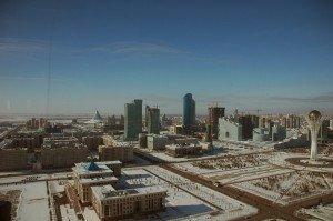 Astana 01 La tour d'observation de Bayterek, symbole d'Astana.