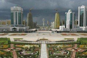 Astana Bayterek vue depuis le palais présidentiel