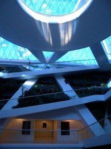 Astana l'intérieur du palais de la paix partie supérieure