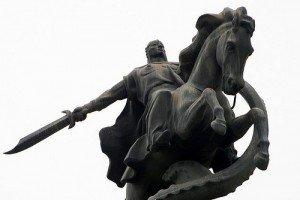 Bishkek statue de Manas 04