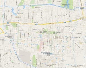 carte de Bishkek centre 01