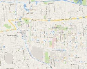 carte de Bishkek centre 02