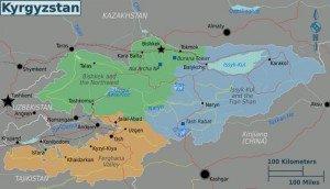 carte du Kirghizstan