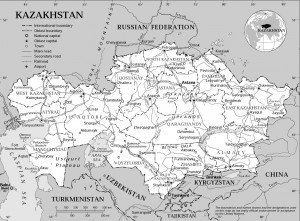 carte Kazakhstan