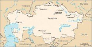 carte Kazakhstan Kyzylorda Shymkent
