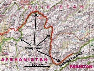 carte du coridor de Wakhan 02 Afghanistan