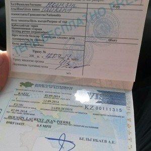 Visa pour Almaty