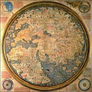 carte du monde de Fra Mauro en 1459