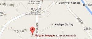 carte Kashgar centre IdKah mosquée 02