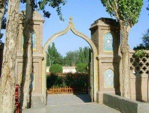 Kashgar 12 bis Mausolée d'Abakh Khodja jardins intérieurs