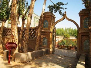 Kashgar 12 ter Mausolée d'Abakh Khodja jardins intérieurs