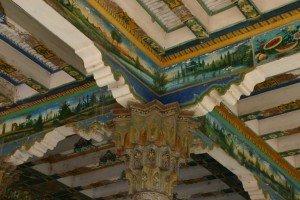 Kashgar 16  bisMausolée d'Abakh Khodja piliers à Muqarnas de la mosquée Jaman