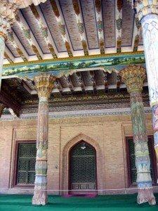 Kashgar 16 Mausolée d'Abakh Khodja piliers à Muqarnas