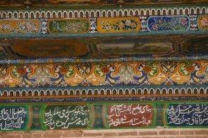Kashgar 16  ter Mausolée d'Abakh Khodja piliers à Muqarnas de la mosquée Jaman